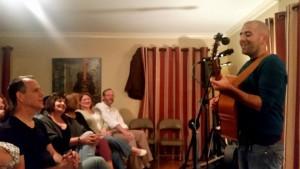 David Wilcox delighting in Justin Farren's performance